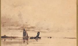 Боголюбов Алексей. Морской пейзаж с парусниками