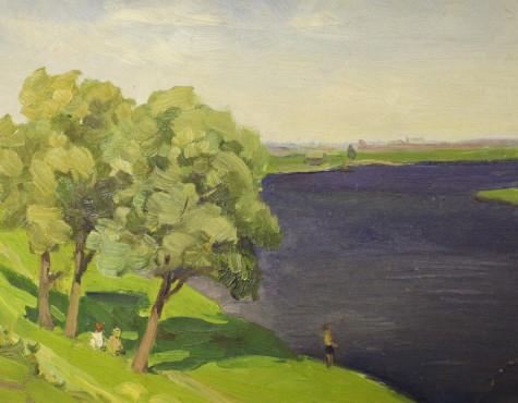 Моносзон Абрам. На реке.