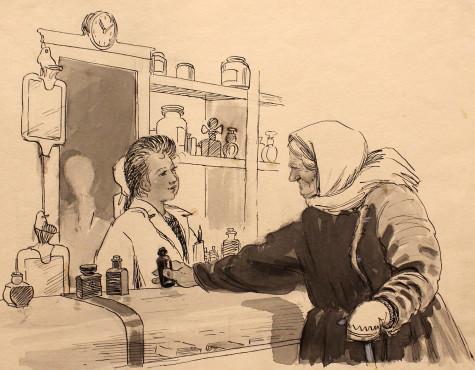 Каневский Аминадав. Иллюстрация к рассказу В. Лукашевича