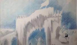 Александр Быховский — Новый год. Эскиз ледяной скульптуры
