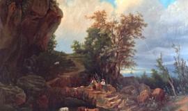 Неизвестный художник XIX века — Пастораль