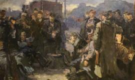 Александр Бубнов — Эскиз картины «Яблочко»