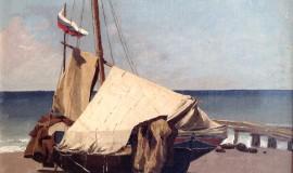 Баркас на берегу моря