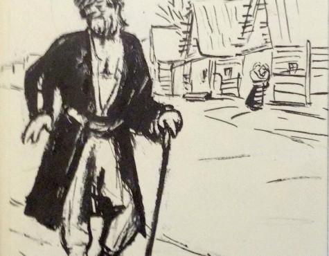 Аксельрод Меер (Марк) Моисеевич. Дед с посохом.