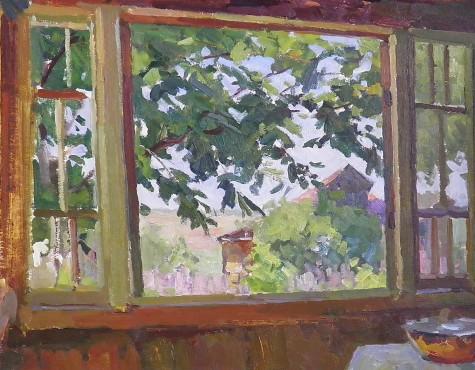 Бубнов Александр. Окно террасы.