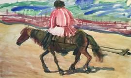 Александр Яковлев — Мужик на лошади