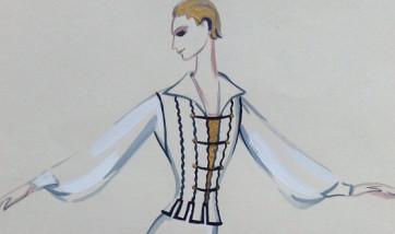 Татьяна Бруни. Набор открыток театральных костюмов.
