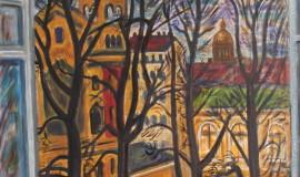Дмитрий Шагин — Вид из окна мастерской на улице Правды