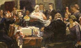 Александр Бубнов — Эскиз картины «Октябрины»