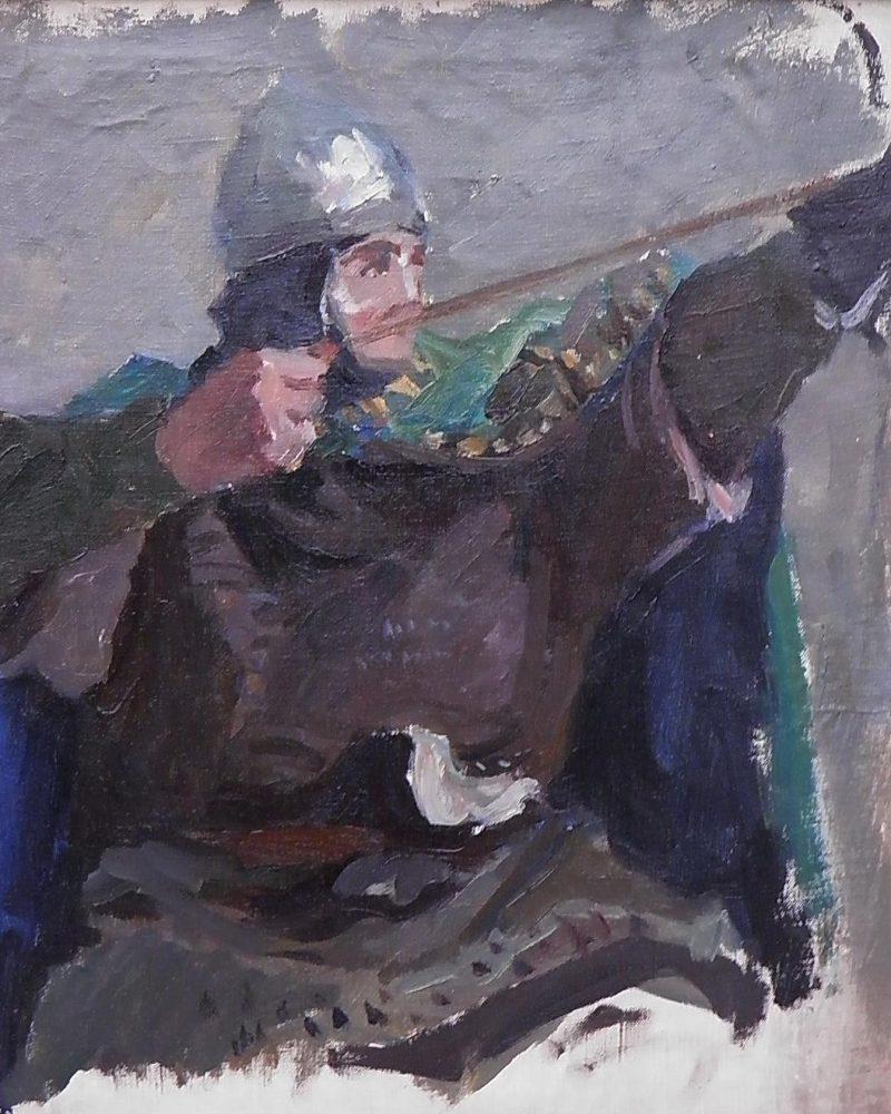 Бубнов Александр. Этюд к картине «Битва».