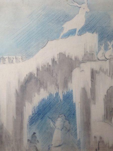 Быховский Александр. Новый год. Эскиз ледяной скульптуры