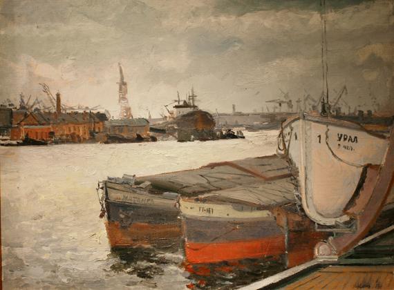 Илья Кац «Баржи Ленинграда» 1953