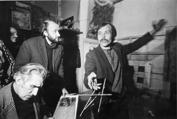 В. Немухин, А. Куркин, П. Беленок, В. Колейчук. Начало 1980-х