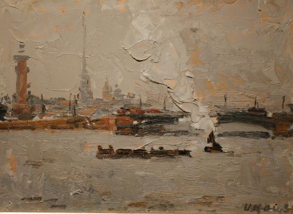 Илья Кац «Нева после дождя» 1959