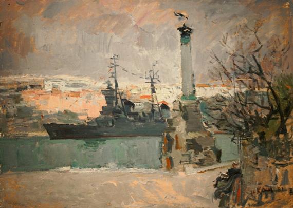 Илья Кац «Военный порт» 1961