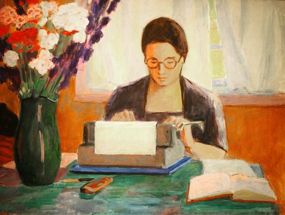 Меер Аксельрод «Портрет писательницы Елены Аксельрод» 1960-е
