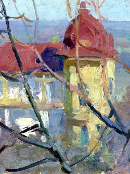 Бубнов Александр. Дом с красной крышей.