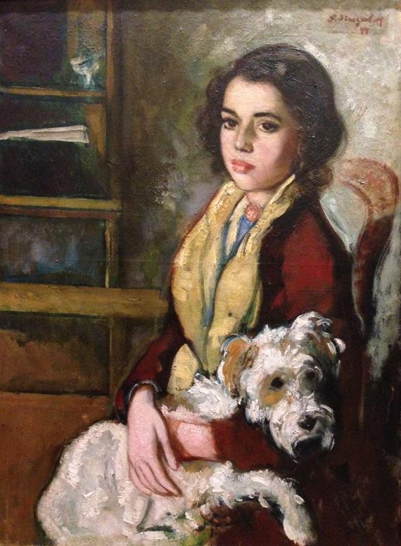 Николай Синезубов «Девочка с собакой»