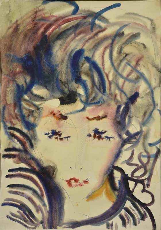 А. Зверев «Портрет Аси» 1981