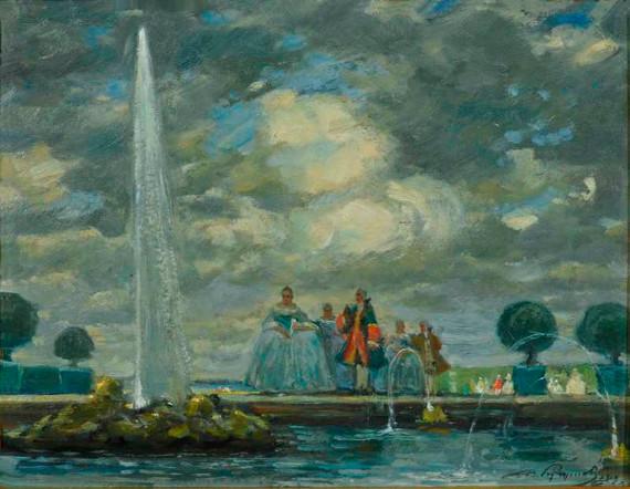 """В. Кучумов """"Елизавета Петровна на прогулке"""" 1919"""