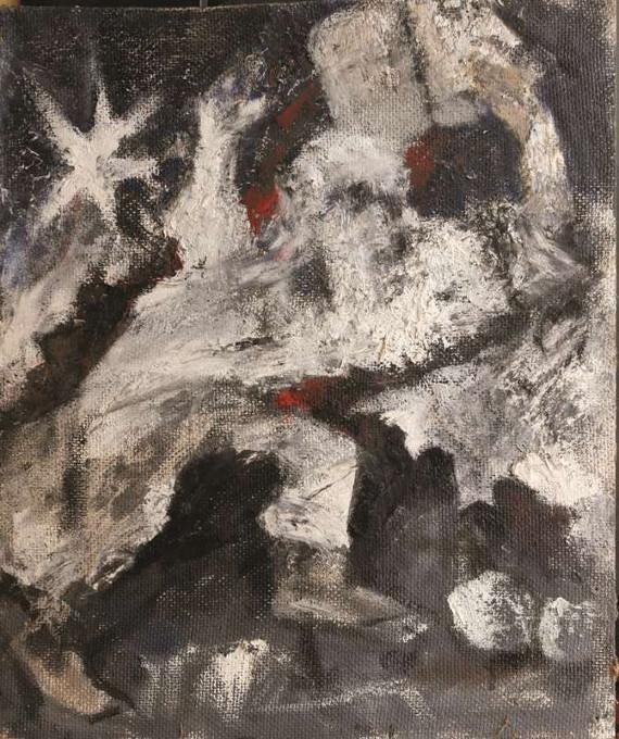 Абрам Моносзон «Моисей разбивающий скрижали» 1960-е