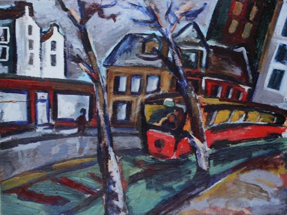 Андрей Кузнецов «Трамвай на Лиговке» 1981