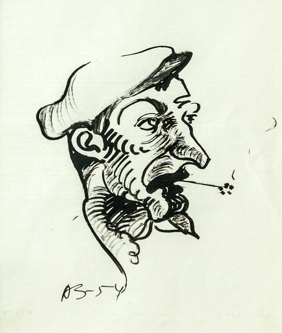 Анатолий Зверев «Из серии «Люди» 1954
