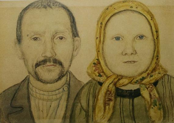 Ефим Честняков «Отец и мать» 1910-е