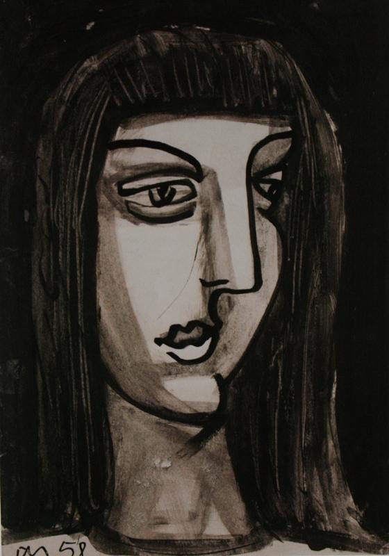 Юло Соостер «Ночной портрет» 1958