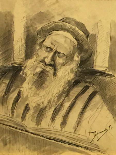 Поленов Василий. Старый еврей с книгой.
