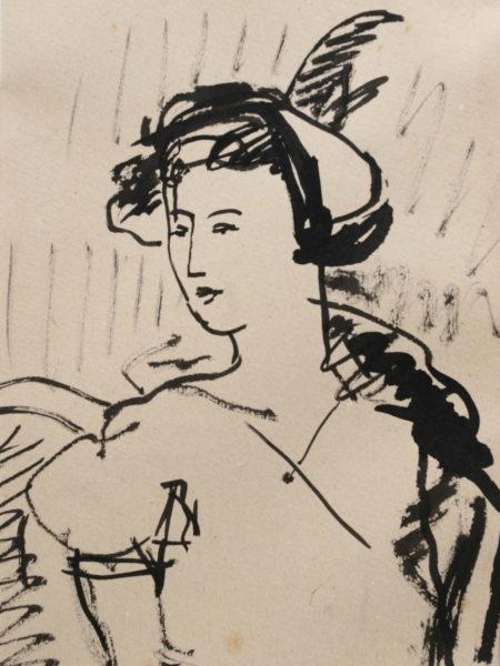 Софронова Антонина. Портрет дамы в шляпе.