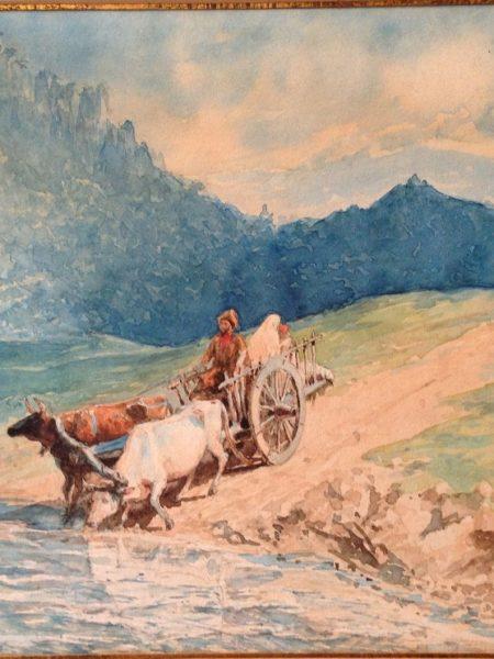 Лагорио Лев. Кавказский пейзаж.