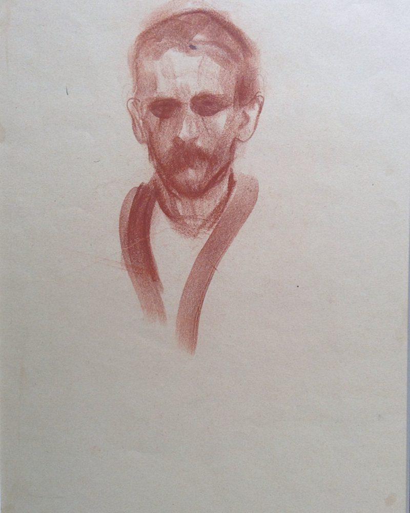 Малявин Филипп. Портрет Сомова.