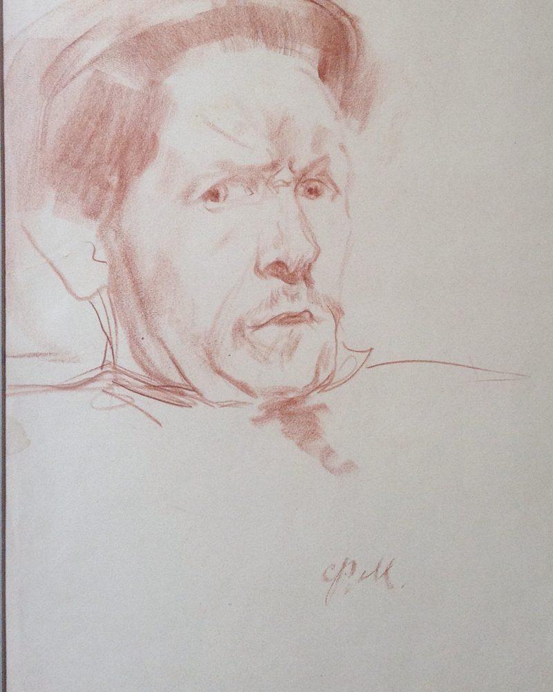 Малявин Филипп. Автопортрет.