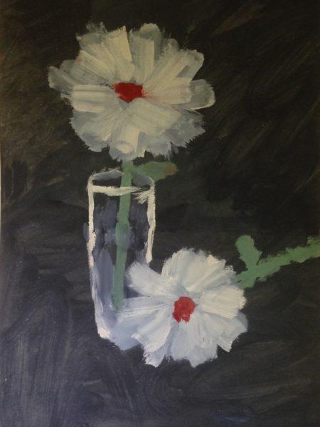 Яковлев Владимир. Белые цветы.