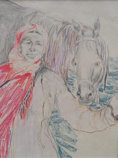Малявин Филипп. Баба с лошадью.