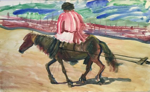 Яковлев Александр. Мужик на лошади.