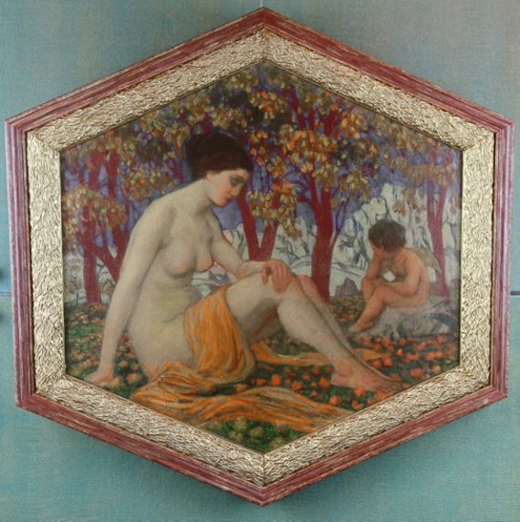 Игнатий Нивинский «Задумчивый Амур» 1913 год. Холст, масло