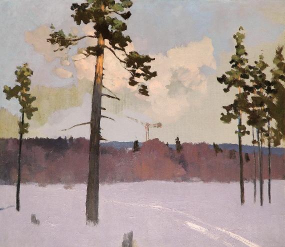 Георгий Нисский «Зимний пейзаж» 1956 Холст, масло