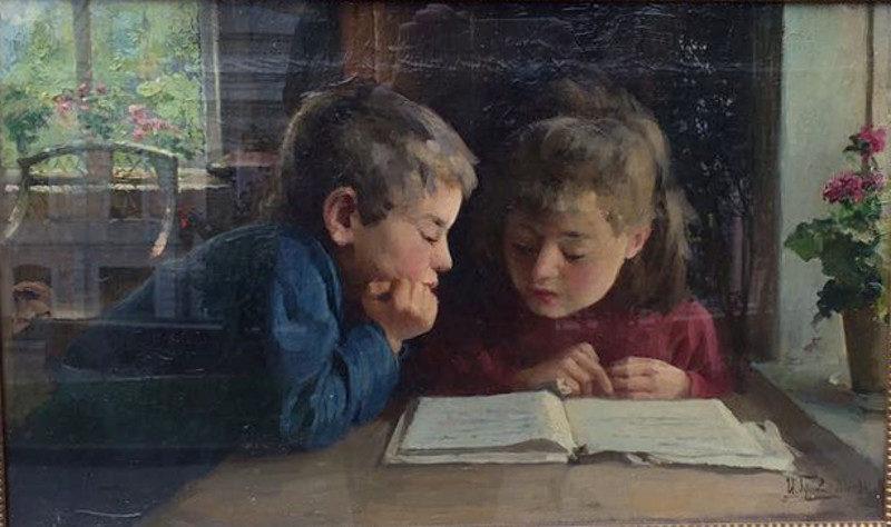 Горохов Иван. Дети за книгой.