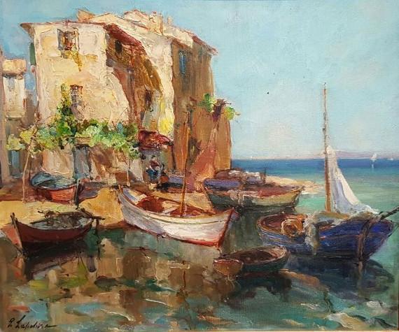 Георгий Лапшин «Рыбацкие лодки» 1930-е