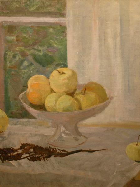 Герасимов Сергей. Натюрморт с яблоками.