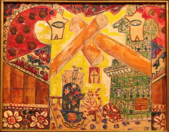 Михаил Ларионов «Эскиз декорации «Русские сказки» 1915