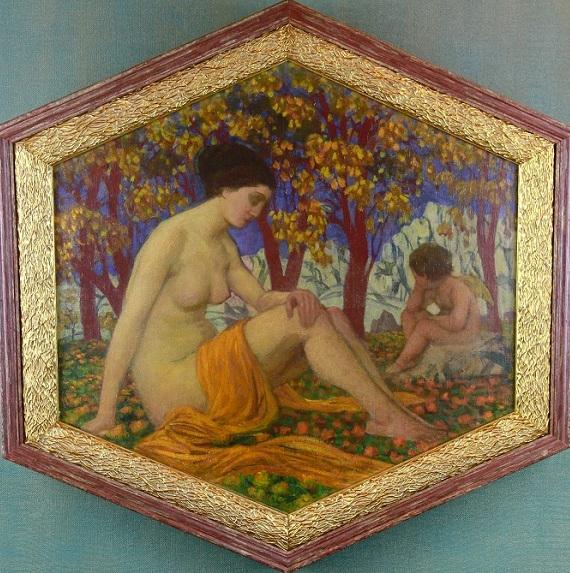 Игнатий Нивинский «Задумчивый амур» 1913