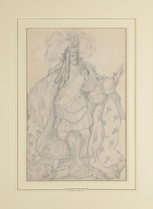 Леон Бакст «Эскиз костюма короля к балету П.И. Чайковского «Спящая красавица» 1921