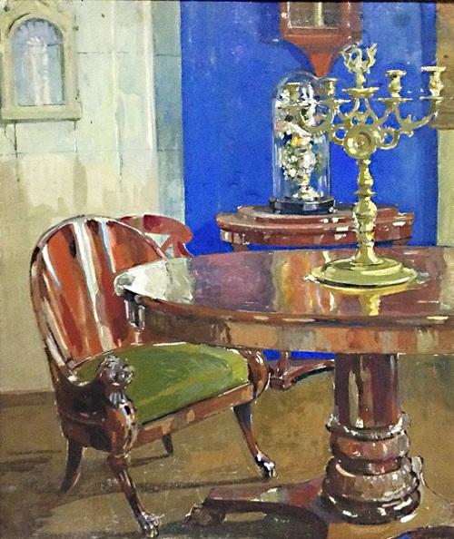 Николай Шестопалов «Интерьер голубой гостиной» 1930-е
