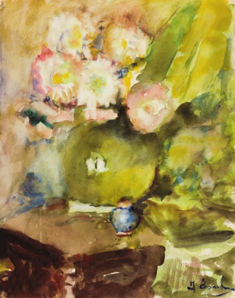 Артур Фонвизин «Натюрморт с цветами» Вторая половина 1950-х