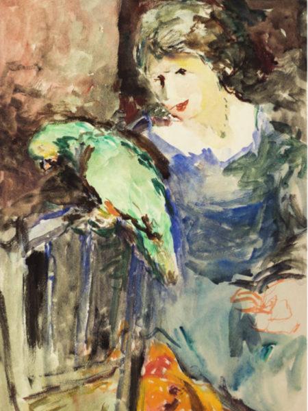 Фонвизин Артур. Женщина с попугаем.