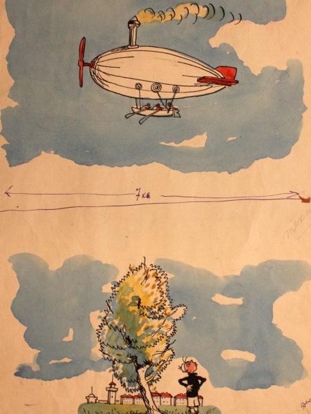 Каневский Аминадав. Две детских иллюстрации.