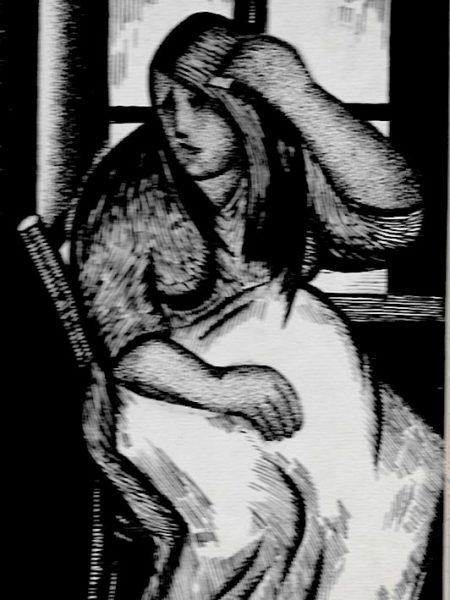 Ермилова-Платова Ефросинья. Женщина у окна.